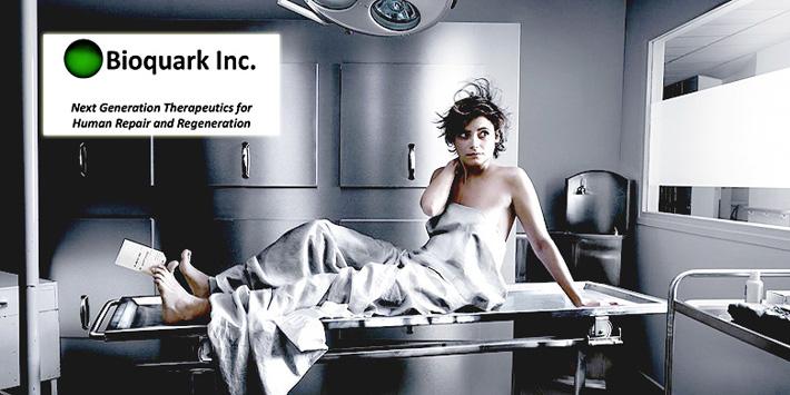 Imagen publicitaria de Bioquark, la polémica firma biotecnológica norteamericana.