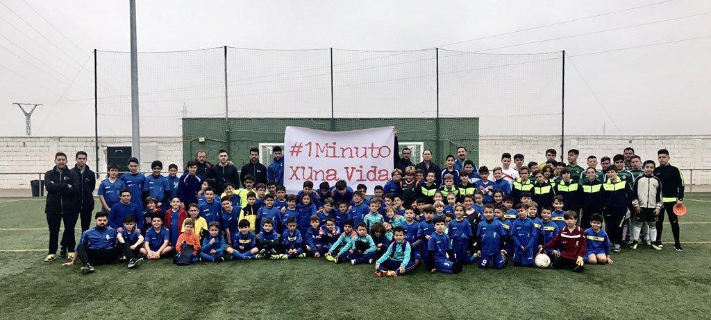La campaña 1minutoXUnaVida, apoyada por jóvenes futbolistas